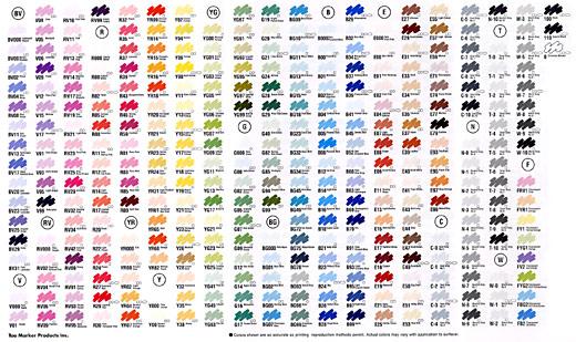 Copic Marker Color Chart Nurufunicaasl